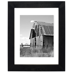 Malden-11x14 Black Distressed Floater-Photo Frames