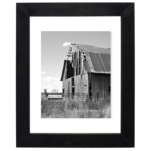 Malden-11x14 Black Distressed Floater-Cadres Photo