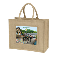 Jute Bag with Photo & Logo