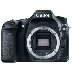 Canon-EOS 80D Digital SLR Camera - Body Only - Black-Digital Cameras