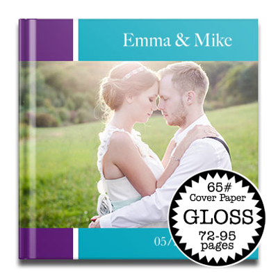 12 x 12 Gloss Hard Cover photo book / 65# Cover Paper (72-95 Pages)