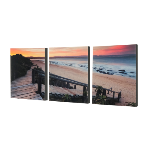 "3-8x10 Premium 1"" Split Image Blocks"