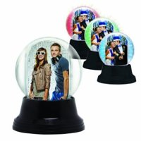Light Up Black Base Snow Globe