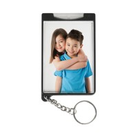 Black Photo Flashlight Keychain