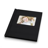 Livre Photo  Lin Noir avec fenêtre - 8.5 x 11 PORTRAIT
