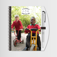 """Notebook & Pen 7""""x5"""" with Photo & Logo"""
