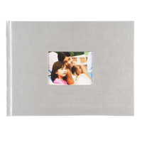 6x8 Hardbound Linen Book with Keyhole (Grey)