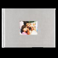 6x8 Hardbound Linen Book with Keyhole (Grey)
