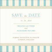 Vintage A - 1 Sided Save the Date  6x6
