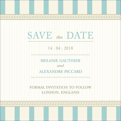 Vintage A - 1 Sided Save the Date