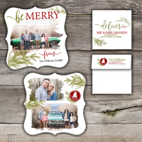Be Merry<br>5x5 Ornate<br>Envelope