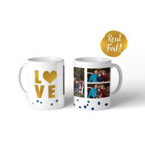 Metallic Love Confetti Mug