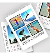 8.5 x 11 White Background 2021 Spiral Calendar