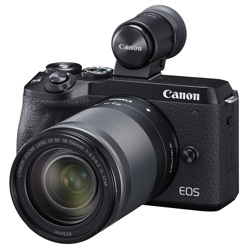 Canon-EOS M6 Mark II Interchangeable Lens Camera with EF-M 18-150mm IS STM Lens and EVF-DC2-Digital Cameras