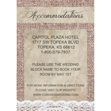 Accommodation Card Insert