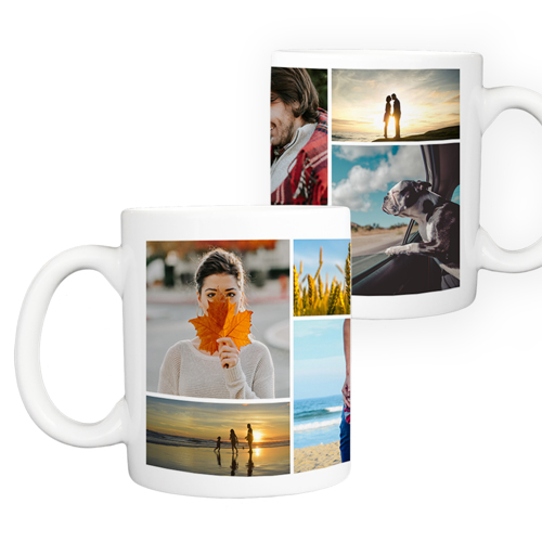 11 oz. Ceramic Mug Collage - 8 images