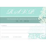 Lace B - 1 Sided RSVP