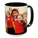 15 oz. Colorful Ceramic Black Photo Mug