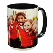 15 oz. Colorful Ceramic Black Photo Mug