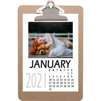 5x7 Mini Clip It Calendar 2021 - 12 Month