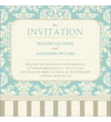 Vintage A - 1 Sided Invitation