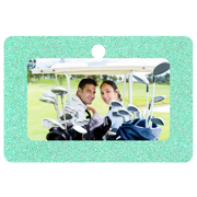 Rectangle Framed (Green Sparkle)