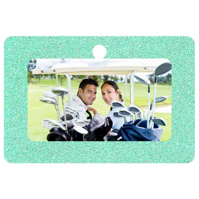 Rectangle Framed (Green Sparkle)