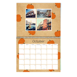 8.5 x 11 Wall Calendar, Colorful Kraft (2019)