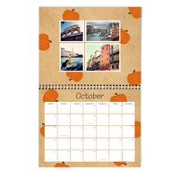 11 x 8.5 Wall Calendar (Colorful Kraft Background) 2019