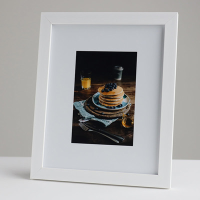 200x250mm Print in a 20mm White Frame with a 100x150mm image  (50mm white space on all sides)