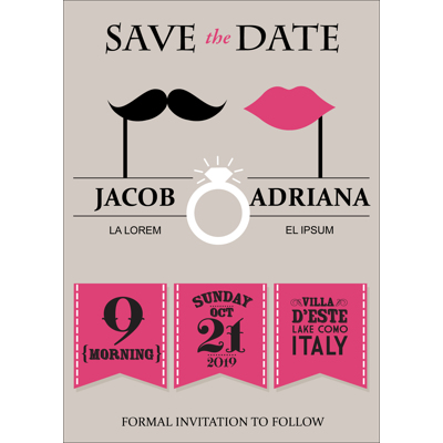 Retro - 1 Sided Save the Date