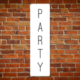 2 ft x 5 ft Vinyl Party Banner Vertical