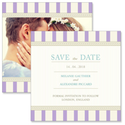 Vintage B - 2 Sided Save the Date   6x6