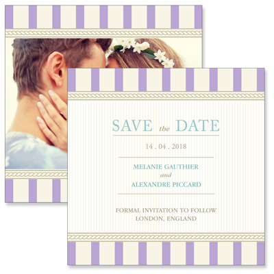 Vintage B - 2 Sided Save the Date