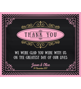 Chalkboard - 1 Sided Thank You