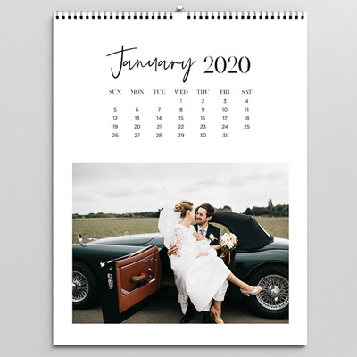 Top Bound White Calendar 2020