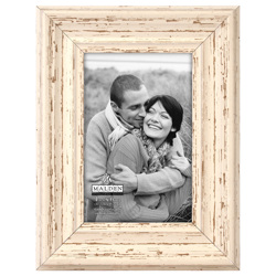 Malden-4x6 Off White Distressed-Photo Frames