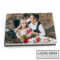 14x11 Flush Mount Hardcover Photo Book / Lustre Paper (22-30 Pages)