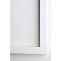 A4 Framed Print Vertical - 20mm White Frame