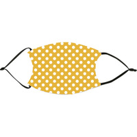 Deep Yellow  Polka Dots Face Mask