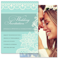 5x7 2 Sided Wedding Invitation (Lace B)