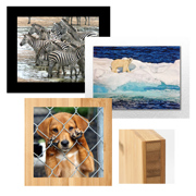 Alumnum Print on Acrylic &  Bamboo Museum Board