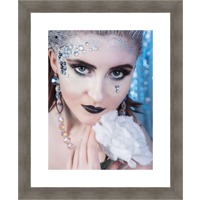 16 x 20 Portrait with 12 x 16 print with bright white printed background