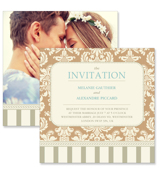 Vintage D - 2 Sided Invitation