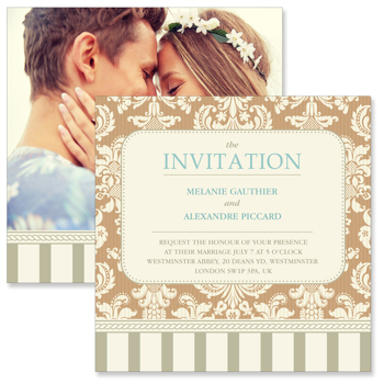vintage d 2 sided invitation gift specifications