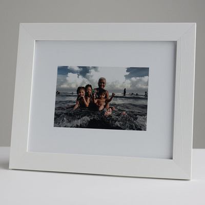 250x200mm Print in 30mm White Frame with a 150x100mm image  (50mm white space on all sides)