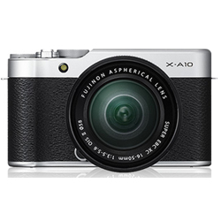 Fujifilm-X-A10 Mirrorless Camera with XC 16-50mm OIS II Lens - Silver-Digital Cameras