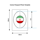 Iranian Passport Photo Templates