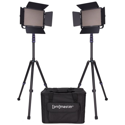 ProMaster-LED1000D Specialist LED 2 Light Transport Kit - Daylight #1875-Studio Lighting Kits