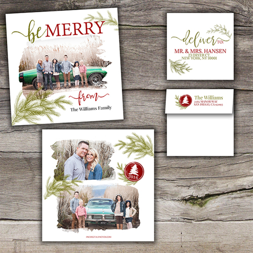 Be Merry<br>5x5<br>Envelope